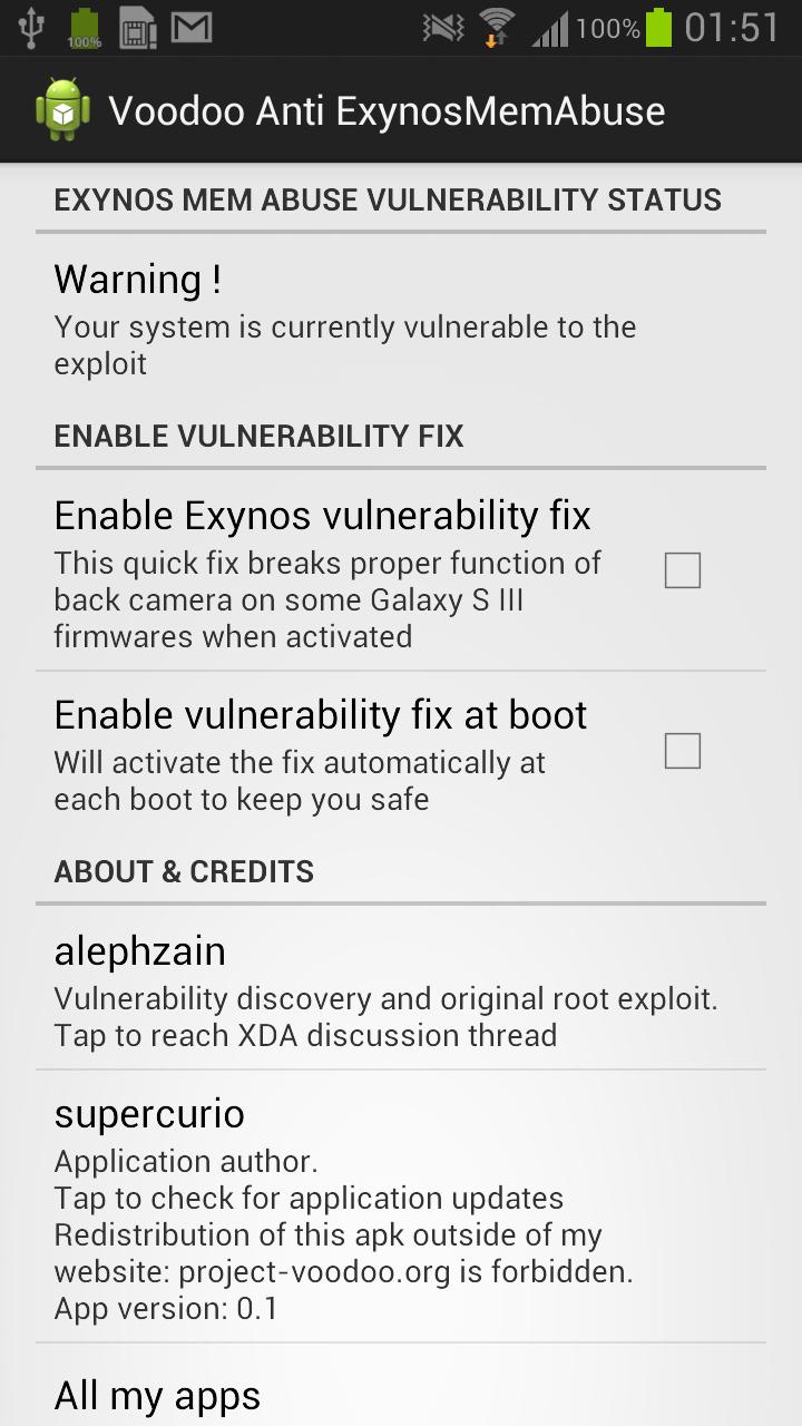 Instant fix app for Exynos Mem Abuse vulnerability, no root